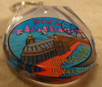 Lot Of 2 Chicago Navy Pier, Ferris Wheel Acrylic Keychain Key Chain 2.5 Long