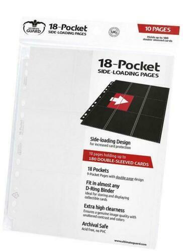 White 10 Ultimate Guard Card Binder 18-Pocket Side-Loading Pages