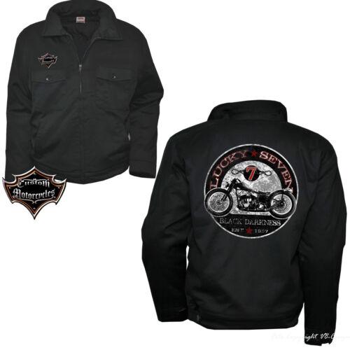 * Giacca WORKER ZIP CUSTOM MOTORCYCLE Oldtimer Moto Biker Vintage Bike 4051