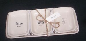 Rae-Dunn-4-piece-ICON-Snack-set-MUNCH-NIBBLE-SNACK-NEW-UNUSED