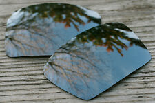 Dark Chrome Silver Mirrored Replacement Sunglass Lenses for Oakley Eyepatch 2