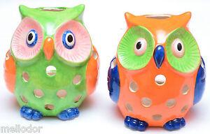 Windlicht-Teelicht-Kerzenhalter-Eule-Porzellan-Deko-Geschenk-16cm