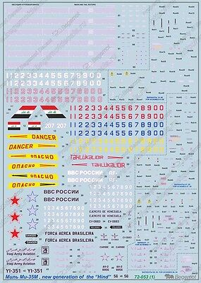 "1:72 Begemot Decals #72-053 Mil Mi-35M NEW! New Generation of the /""Hind/""  NEU"