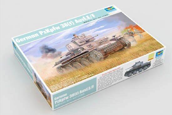 01577 Trumpeter German Pzkpfw 38(t) Agsf.E F Tank Static DIY Model 1 35