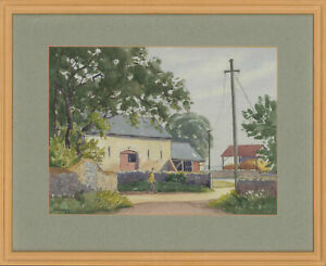 Arthur-Edward-Wade-1889-1976-1943-Watercolour-Countryside-Farm