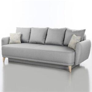 Funktionssofa Finn Schlafsofa In Stoff Hellgrau 230 Cm Sofa