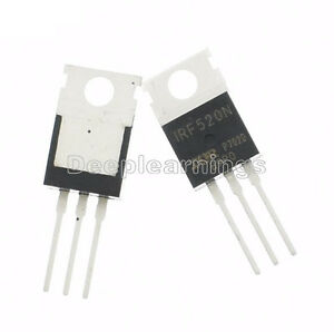 10pcs IRF520 IRF520N N-channel IR Power MOSFET Transistor TO-220