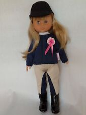 """13"""" Corolle Les Cheries Camille Riviera Equestrian Polo Doll NWOB"""