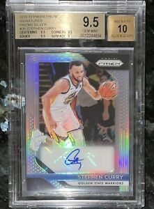 Stephen-Curry-2018-19-PANINI-SILVER-PRIZM-SIGNATURES-26-BGS-9-5-w-10-auto-PSA