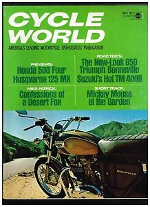 CYCLE-WORLD-MAY-1971-SEECONTENTS-IN-SECOND-PHOTO-THESE-ISSUES-130-160-PAGES