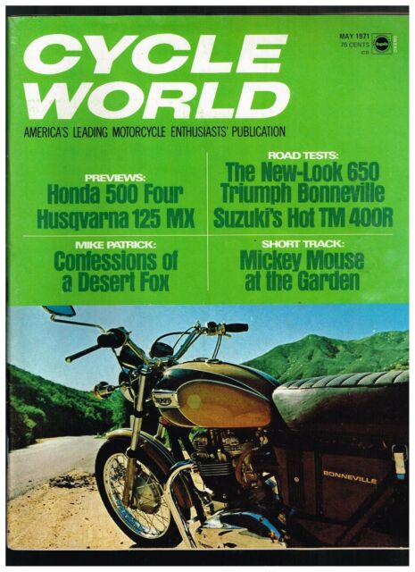 CYCLE WORLD MAY 1971 SEECONTENTS IN SECOND PHOTO THESE ISSUES 130-160 PAGES