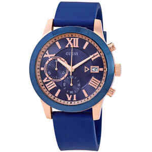 Guess-Atlas-Chronograph-Blue-Dial-Men-039-s-Watch-W1055G2