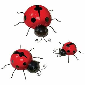 Image Is Loading Metal Ladybugs Garden Insects Porch Patio Fence Wall