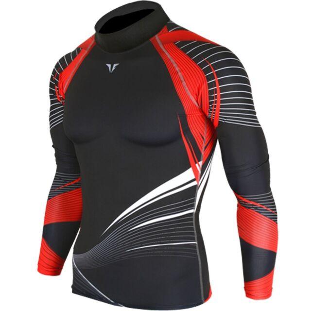 New Premium 003 Red Wind Mens Skin Tights Sports Compression Shirts