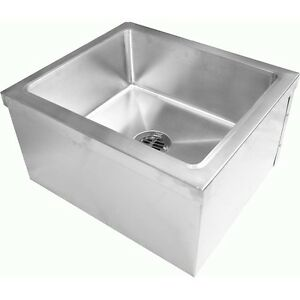 Mop Sink Stainless Steel : Stainless-Steel-Floor-Mount-Mop-Sink-19-034-Wx22-034-Lx12-034-H