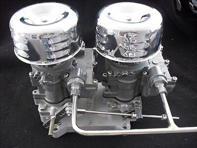 HOT ROD RAT TRI-POWER ROCHESTER 2X2 TO 4V 4 BT DUAL CARB ADAPTER HOLLEY BOTTOM