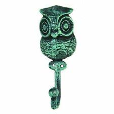 Towel Hat Bath Robe Jewelry Hooks Wise Owl Wall Hook Green Finish Bird