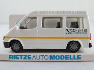 Rietze-30773-Ford-Transit-Bus-1994-034-SCHENKER-EUROCARGO-034-1-87-H0-NEU-OVP