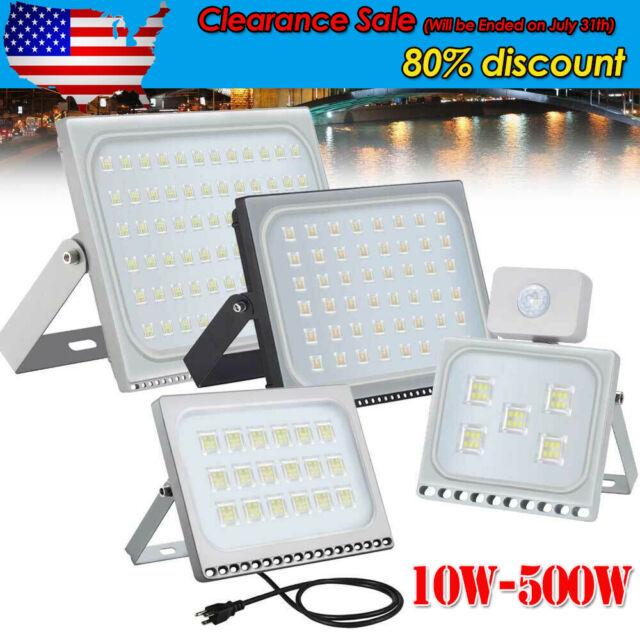 LED Flood Light 10W 20W 30W 50W 100W 150W 200W 300W 500W Outdoor Lamp Spotlight