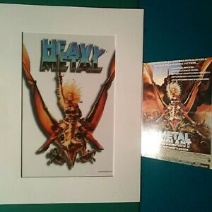 "HEAVY METAL TAARNA LIMITED EDITION SERICEL, 1996, MATTED TO 9x12"", WITH POSTCARD"