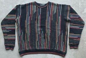 Vintage-Tundra-Canada-Herren-Strick-Pullover-Gr-XL-Bill-Cosby-COOGI-Biggie