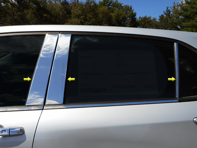 Works with 2005-2009 Chevrolet Equinox 4 PC Stainless Steel Chrome Pillar Post Trim Made in USA