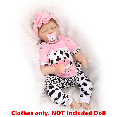 "Reborn Girl 22/"" Bebe Baby Doll Clothes Newborn Clothing Set Not Included Doll"