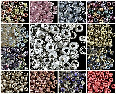 10g 6//0 Etched Seed Beads Czech Pressed Glass 3.7-4.3mm CHOOSE COLOR