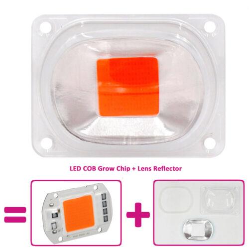 LED COB Chip 20//30//50W Plant Full Spectrum Grow Light Lamp+Lens Reflector
