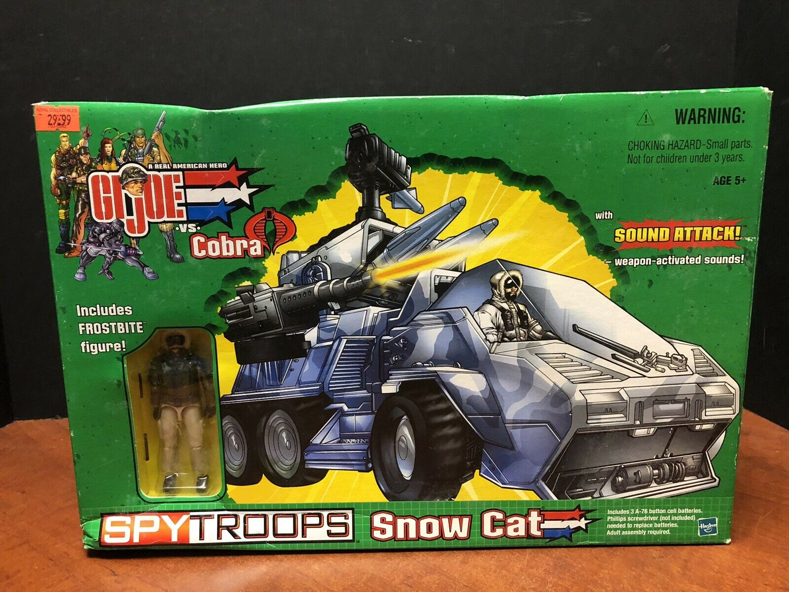 GI JOE 2002 Spy troupes Snow Cat Comme  neuf IN BOX dela 0400  2018 magasin
