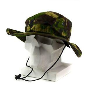 Original British Army boonie cap Sun Bush Hat woodland camo combat ... 47ab22ef3d3