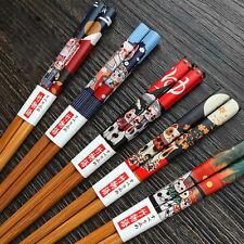 Lucky Cat Bamboo Chopsticks Chop Sticks Reusable for Food 5 pairs Japanese
