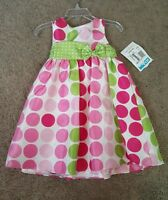 Rare Editions Infant Formal Dress, Polka Dot, Sz. 24 Mo.