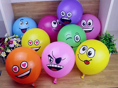 Emoji Expression colorful Latex Balloons Cartoon Wedding party decorations
