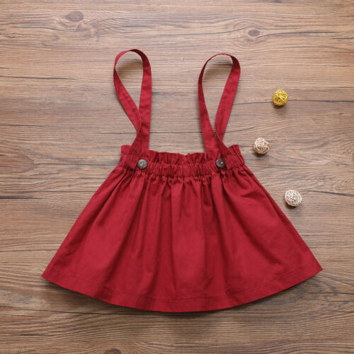 Toddler Infant Baby Girl Princess Lace Stripe Romper Suspender Skirt Outfits Set