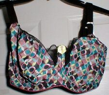 Cleo by Panache Millie 7231 multi abstract poly elastene soft cup bra-32J