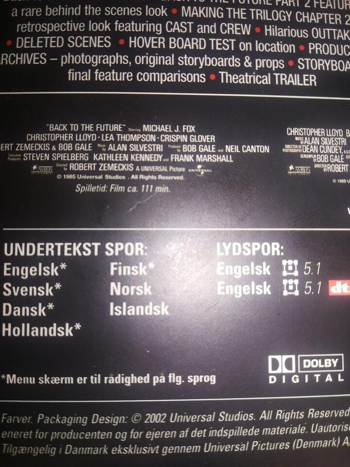 Tilbage til Fremtiden - Triologi Box, instruktør Robert