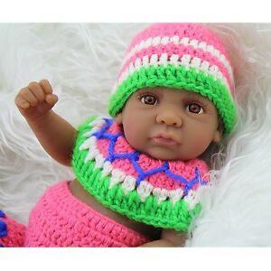 "Lifelike Reborn Dolls Silicone Vinyl Handmade Baby American Black Boy 11"""