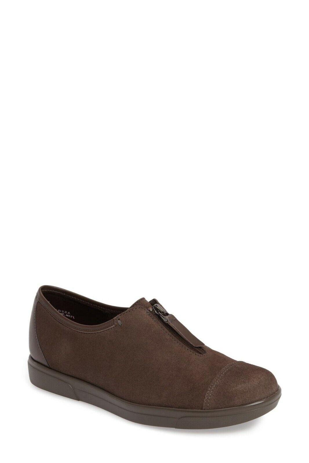 NEW Munro Roslyn Zip Sneaker, Taupe Suede, Size Women 9 M  215