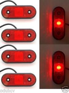 2 X 12v 24v Redondo Perfil Led Lateral Trasero Luces de Marcaje Luces Camión