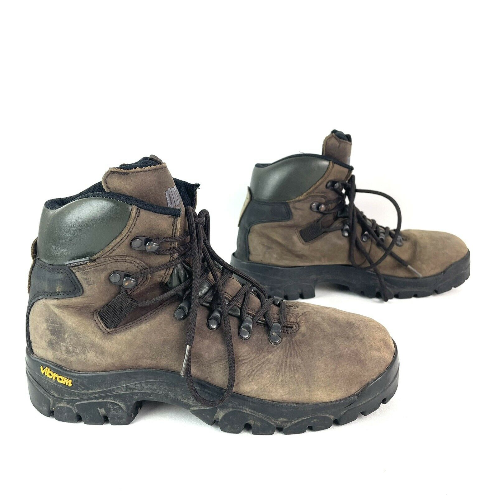Denali Mens Vibram Sole Leather Hiking Boots Size Us 9