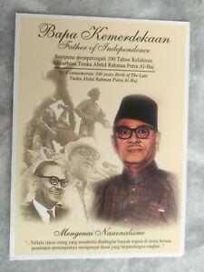 100 yr 2003 Bapa Kemerdekaan Tunku Abdul Rahman Maxima Stamp Post Card MINT
