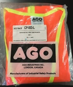 Canadian Pacific (Railway) Running Trades High Visibility Vest Cdr.Egr. Size Lg.