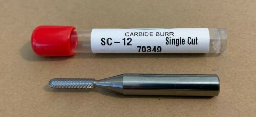"USA 1//8/"" SC-12 Solid Carbide Cylindrical Radius Burr Single Cut HTC"