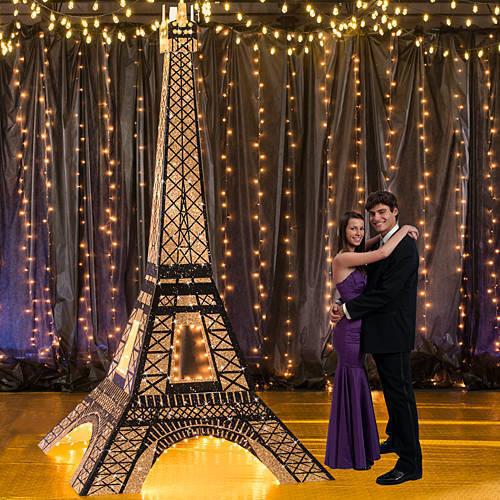 Torre Eiffel iluminada PARIS 3D PARIS tema Decoraciones, pie monumento