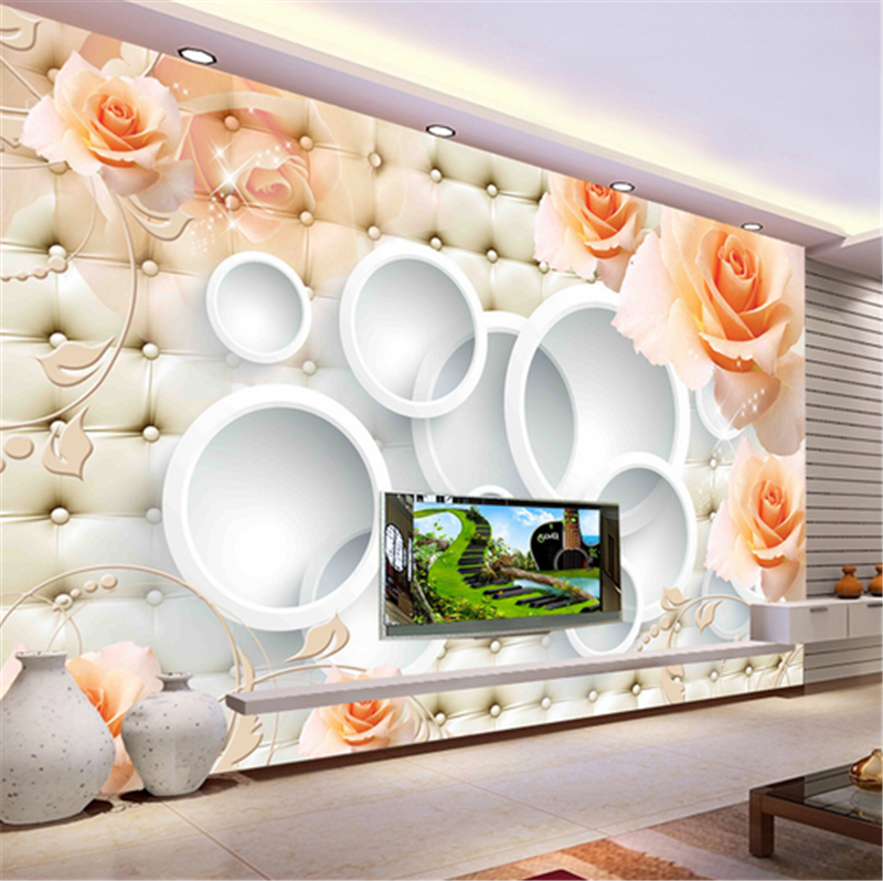 3D Stereo Orange Flowers 83 Wallpaper Mural Paper Wall Print Wallpaper Murals UK