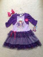 Ready- Made Girls Purple Princess Sophia Disney Dress W/ Hair Bow (4,5,6,6x)