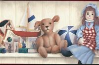 Wallpaper Border Old Fashioned Toys On Shelf