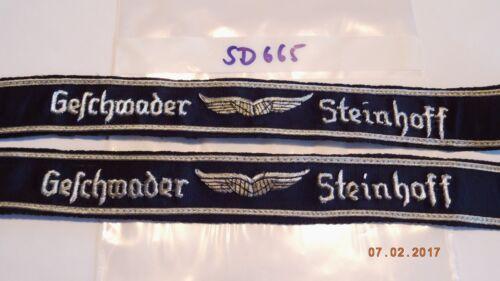 sd665 Bundeswehr Ärmelband Geschwader Steinhoff Offizier 2 Stück