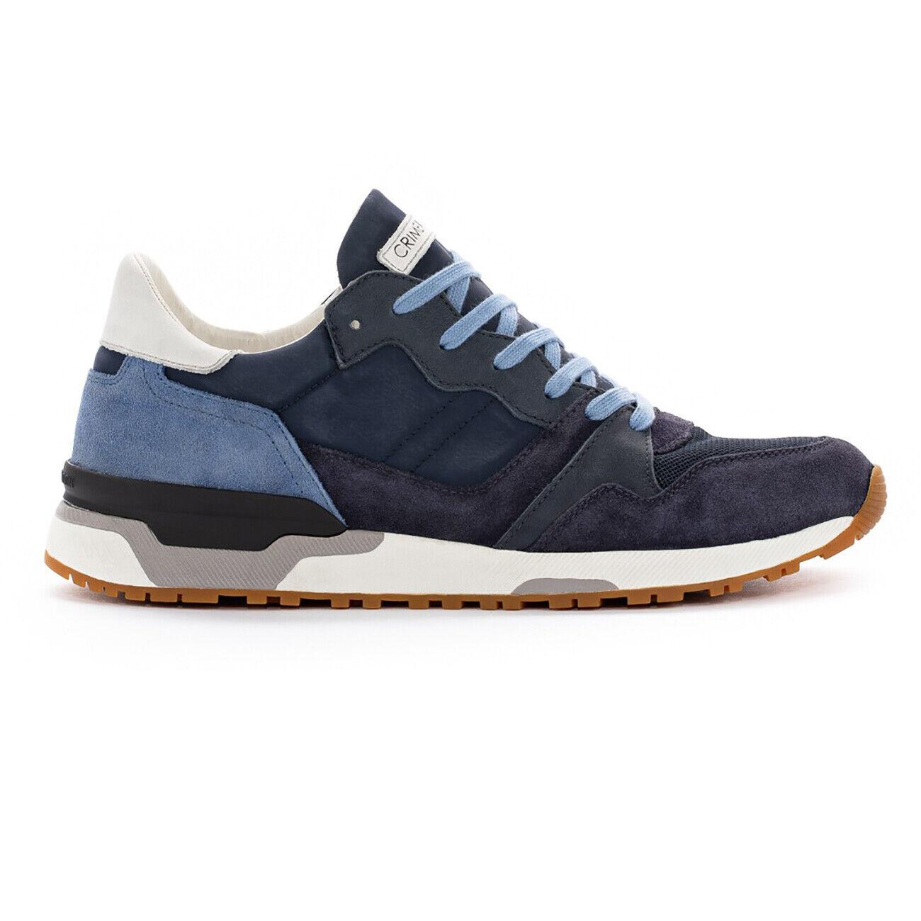 Chaussures hommes bleu Turnchaussures CRIME LONDON in pelle e tessuto art ESCAPE 11402PP1.40